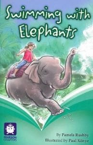 Book Cover of Swimming With Elephants by Pamela Rushby