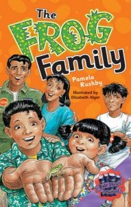 Book Cover of The Frog Family by Pamela Rushby