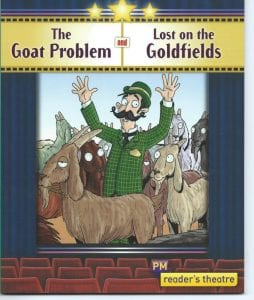 Book Covers of The Goat Problem and Lost on the Goldfields by Pamela Rushby
